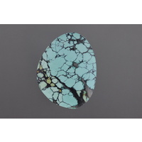 Chinese Spiderweb Turquoise Freeform Cabochon
