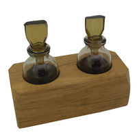 Acid Bottles in Wooden Stand