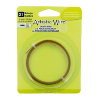 Flat Artistic Wire - Antique Brass 21 Gauge