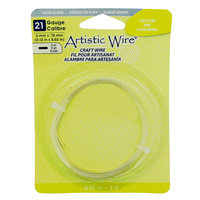 Flat Artistic Wire - Gold Colour 21 Gauge