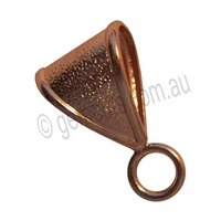 Bail with Fixed Jump Ring - Copper
