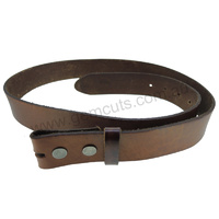 Genuine Solid Leather Belt - Classic Brown