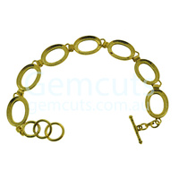 Gold Bracelet Setting – 18x13mm Calibrated Ovals x 7