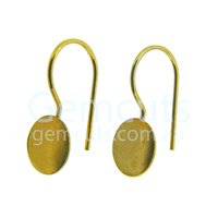 Ear Wire with Round Bail Pair - Gold
