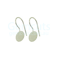 Ear Wire with Round Bail Pair – Silver