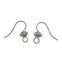 Fancy Ear Wire Pair – Antique Silver