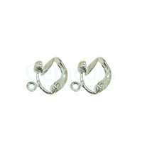 Clip-On Earring with Ring Pair – Silver