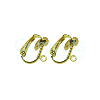 Clip-On Earring with Ring Pair – Gold