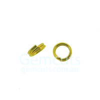 Gold Colour Double Split Ring ID 3.2mm