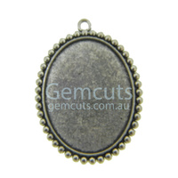 Fancy 42x32mm Oval Setting