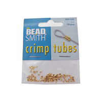 Crimp Tubes 1.5mm - Gold Plated
