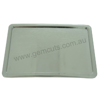 Blank Belt Buckle - Classic Bright Silver Rectangle