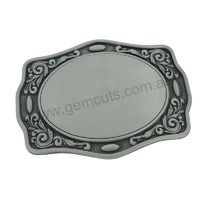 Blank Belt Buckle - Western Flower Trim