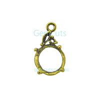 Round Pendant With Jump Ring - Gold Colour