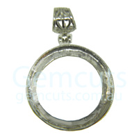 Round Pendant with Bail - Silver Colour