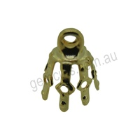 Bell Cap 7 Prong Gold Plated