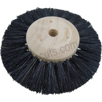 Jewellers Wooden Hub Wheel Brush 70mm (3 Rows- Converging)