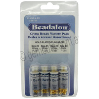 Crimp Beads Variety Pack - Gold Plated