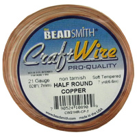 Craft Wire 21GA Half Round