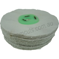 Loose Cotton Polishing Wheel - 125mm x 100 Fold