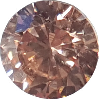 Round Cubic Zirconia - Champagne