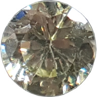 Round Cubic Zirconia - Light Peridot