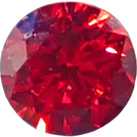 Round Cubic Zirconia - Red