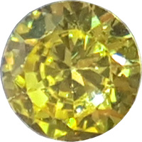 Round Cubic Zirconia - Yellow