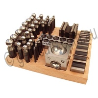 Doming Punch Set 40 Pieces in Wooden Stand