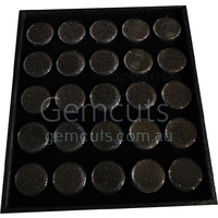 Gem Pods 30mm - Black - Set of 25 - With Tray