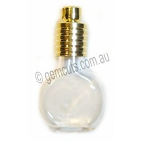 Glass Vial Cognac - Gold Cap