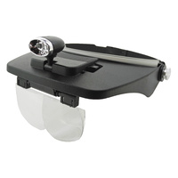 Head Loupe with Interchangeable Lens & LED Light