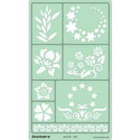 Artistic Designing Template Stencil - Floral
