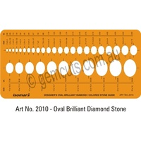Jewellery Design Template - Oval Brilliant Diamond / Coloured Stone Guide