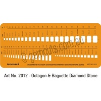 Jewellery Design Template - Octagon, Baguette, Square Diamond - Coloured Stone Guide