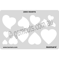 Metal Clay Design Template - Hearts