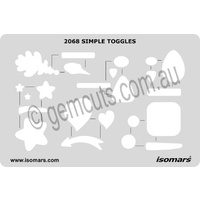 Metal Clay Design Template - Simple Shapes