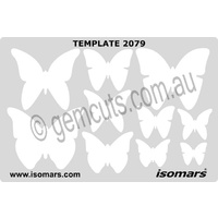 Metal Clay Design Template - Butterflies