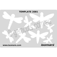 Metal Clay Design Template - Dragonflies