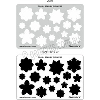 Metal Clay Design Template - Starry Flowers