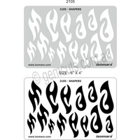 Metal Clay Design Template - Tribal & Fish Hooks