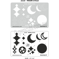 Metal Clay Design Template - Moon Cycles