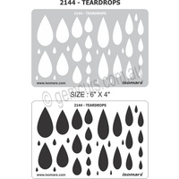 Metal Clay Design Template - Tear Drops