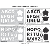 Metal Clay Design Template - Fonts (Set of 2)