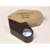 Illuminated Jewellers Loupe 10x -18mm