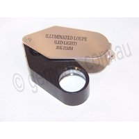 Illuminated Jewellers Loupe 30x -21mm