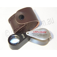 Illuminated Jewellers Loupe 20x -21mm (UV & White Light)