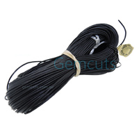 Greek Leather Cord - Round - Black - 2.00mm (Per Metre)