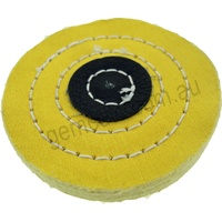 Yellow Muslin Buff 100mm x 50 Fold