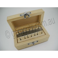 Micro Tap & Die Set in Wooden Box